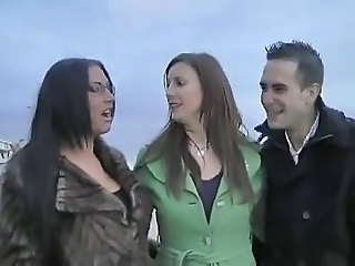 British European MILF Outdoor Threesome