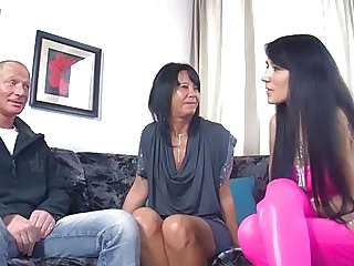 European German MILF Threesome