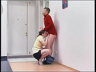 Blowjob Clothed Fishnet Maid MILF Russian Uniform