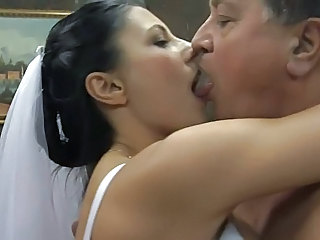 Bride Daddy Kissing MILF Old and Young