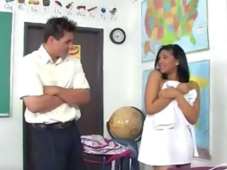 Interracial Latina School Teacher Teen