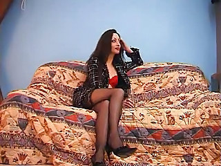 Amazing European French Legs MILF Stockings