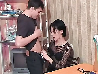 Skinny dark haired transvestite part 1