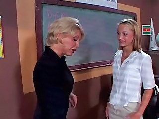 Lesbian MILF Old and Young School Teacher