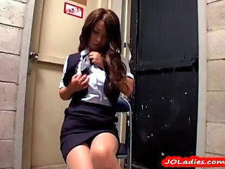 Asian Babe Bus Japanese Secretary Skirt