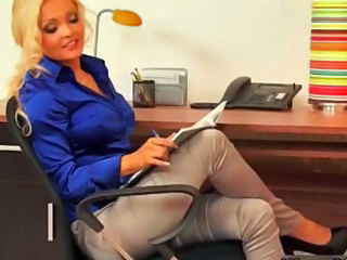 Amazing Blonde MILF Office Secretary