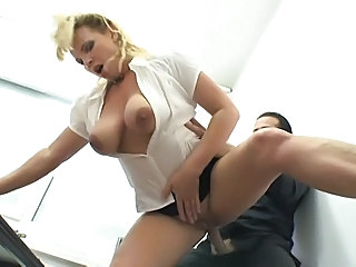 Big Tits Blonde Clothed French Hardcore MILF Natural Secretary