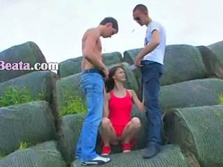 Outdoor Teen Threesome