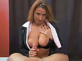 Big Tits Handjob MILF Natural Pov