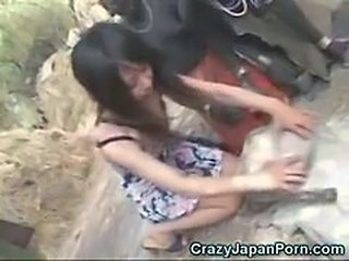 Asian Interracial Japanese Outdoor Teen