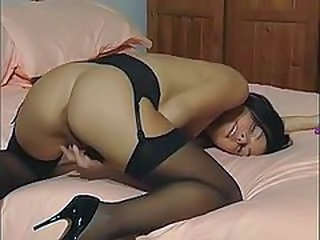 Ass British Masturbating Solo Stockings