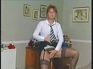 British European MILF Solo Stockings