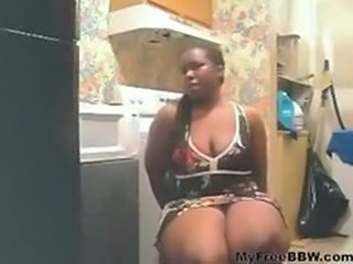 Amateur BBW Ebony Homemade Kitchen Teen