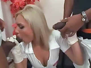 Big cock Blowjob Interracial Nurse Russian Threesome