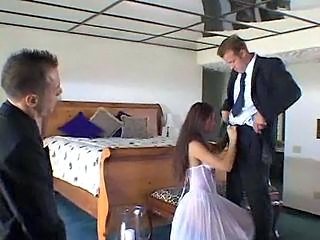 Bride Handjob Threesome