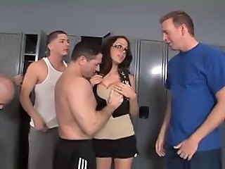 Gangbang Glasses Teen