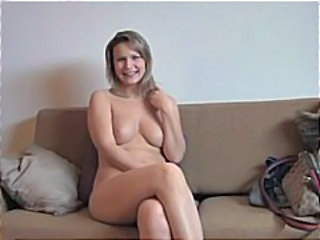 Blonde Casting German Mature