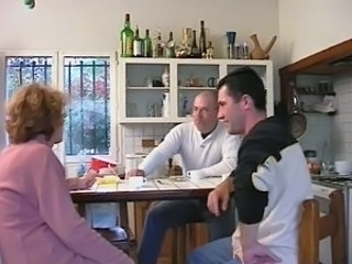 French Kitchen Mature Threesome