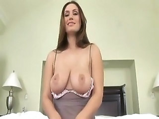 Cute MILF Pornstar SaggyTits Swallow