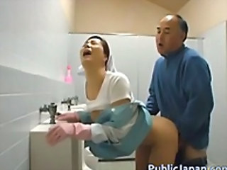 Asian Doggystyle Hardcore Mature Nurse Toilet