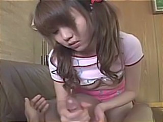 Asian Chinese Handjob Pigtail Small Tits
