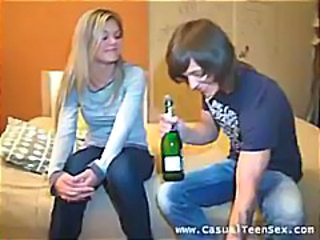 Drunk European Teen