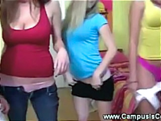 Dancing Student Teen Threesome Webcam