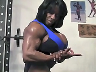 Big Tits Ebony Muscled Sport