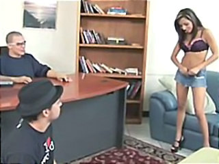 Office Skirt Teen Threesome