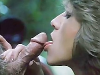 Sexy retro blowjob outdoors with facial tubes