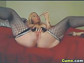 Anal Masturbating MILF Stockings Tattoo Toy Webcam