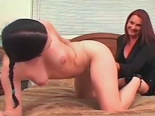 Two simmering shove around lesbians lick plus fuck