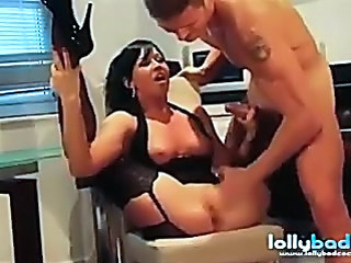 British Corset Handjob MILF Stockings