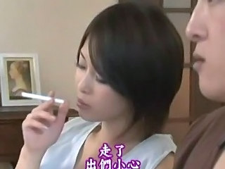 Asian Babe Cute Japanese Smoking