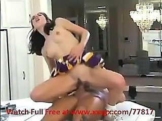 Cheerleader Interracial Riding Teen Uniform
