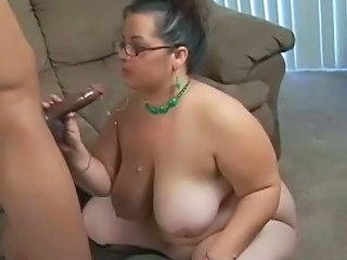 BBW Big Tits Chubby Cumshot Glasses MILF Natural