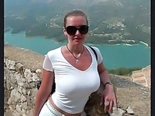 Amazing Big Tits MILF Natural Outdoor