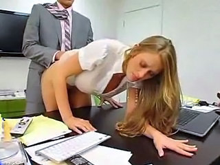 Amazing Clothed Doggystyle Hardcore MILF Office Secretary