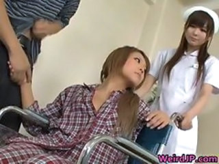Asian Japanese Nurse Teen Threesome Uniform