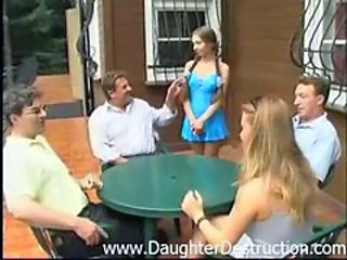 Daddy Daughter Family Old and Young Teen