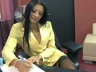 Cute MILF Office Secretary Stockings