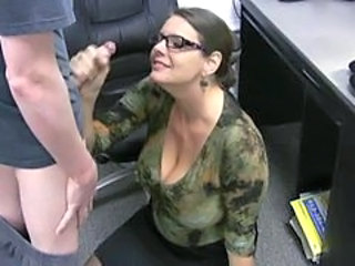 Car Glasses Handjob Mature MILF Office Secretary