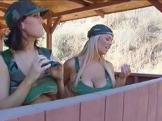 Army Big Tits MILF Uniform