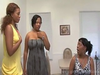 Ebony Family Threesome