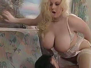 BBW Big Tits Blonde British Lingerie MILF Natural Stockings