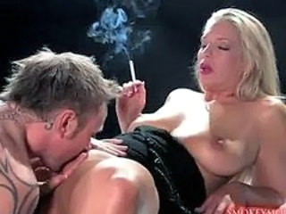 Licking MILF Smoking