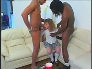 Babysitter Blowjob Interracial Teen Threesome