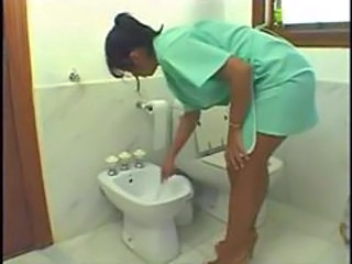 Brazilian Latina Maid Toilet Uniform