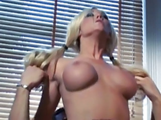 Hardcore MILF Pigtail Riding Silicone Tits