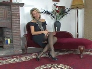 Amazing British European Legs MILF Stockings